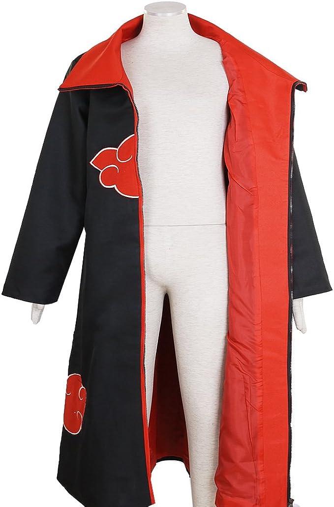 Naruto Akatsuki Itachi Uchiha Deluxe Men/'s Cosplay Costume Cloak