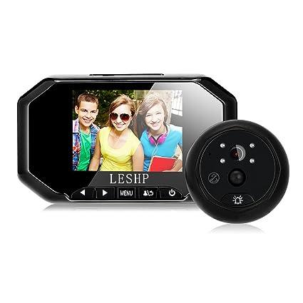 Timbre Video interfono, Videoportero 3,5 pulgadas Sensor de movimiento PIR IR Noche Visión