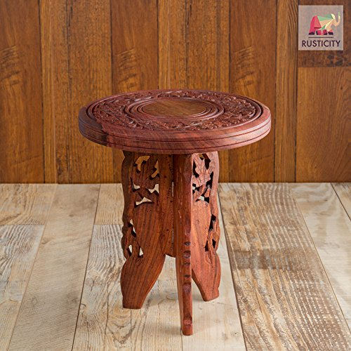 Rusticity Wooden Mini Side Table | Handmade | (9x9in)