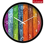 jedfild Boutique reloj de panel de madera de estilo puntero digital de pared Wall-Clock idílico China viento Mute reloj de pared, 12', violeta
