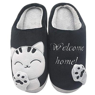 cb7813b5d98f YOOEEN House Slippers Memory Foam Mens Womens Kids Winter Cute Cotton Animals  House Shoes Comfort Warm