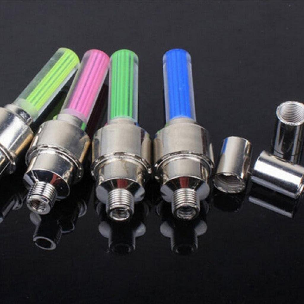 Geshiglobal Lot de 2 bouchons lumineux /à LED pour valve de pneu roue Clignotantes Lampes pour voiture V/élo Moto