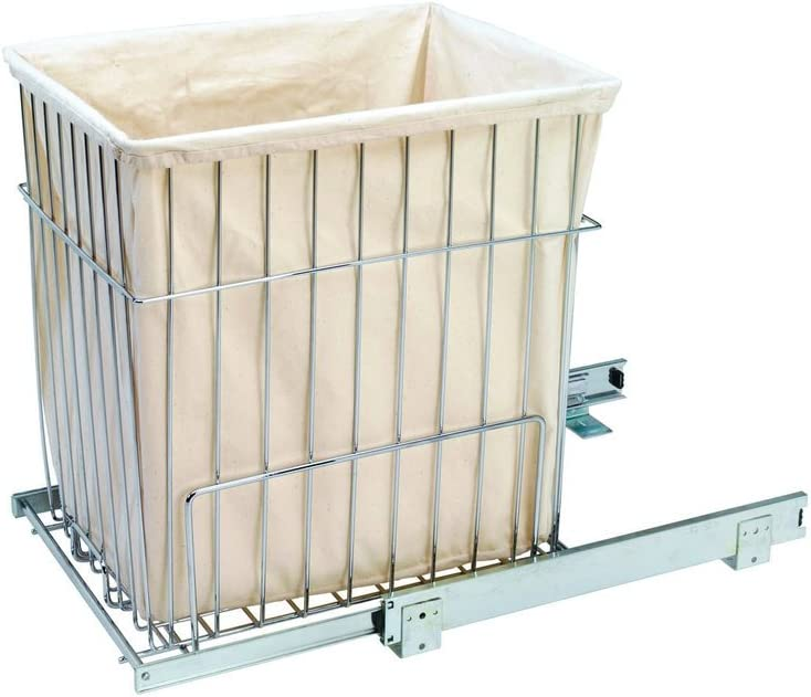 Hamper Baskets, Wire Heavy Duty Pull-Out Hampers