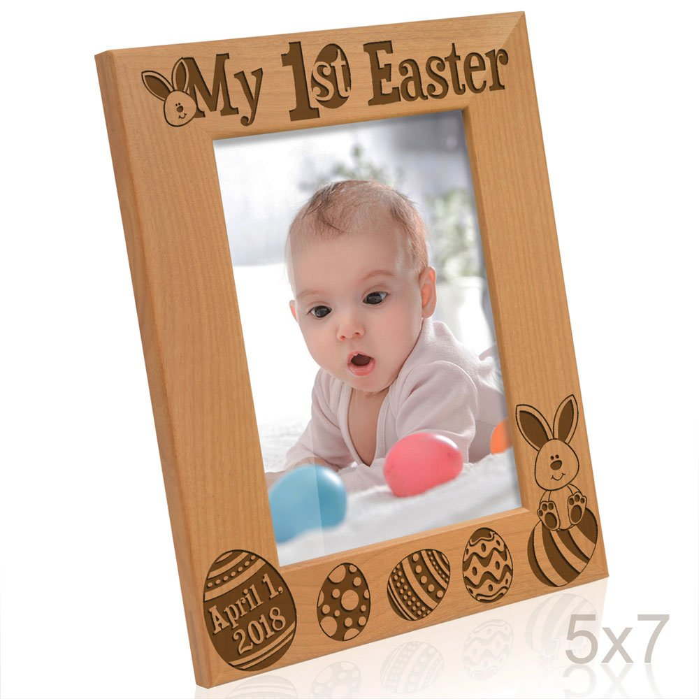Kate posh 2017 my first 1st easter picture frame engraved kate posh 2017 my first 1st easter picture frame engraved natural wood photo frame easter decorations baby easter gifts first easter gifts easter negle Choice Image
