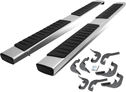 Aluminum 6 Inches Running Board Side Step Nerf Bar Compatible with Chevy Silverado//GMC Sierra 1500 Crew Cab 2019