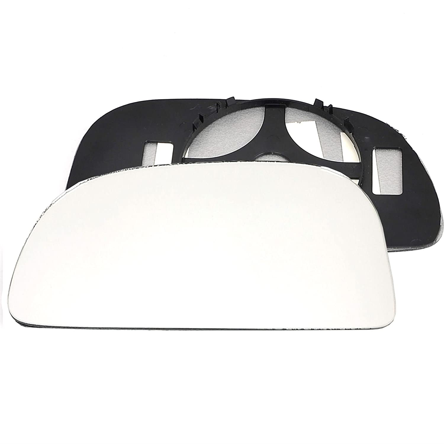 Clip On Passenger left hand side wing door Silver mirror glass with backing plate #C-SN//L-RTMSR03