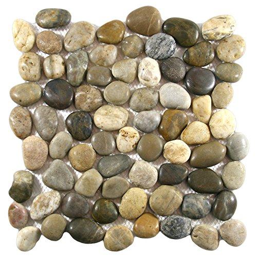 Polished Cobblestone Pebble Tile 1 ()