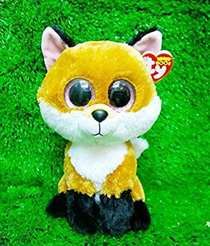 Monkey King New Ty Beanie Boos Slick The Fox Plush Big Eyes Soft Dolls 25Cm