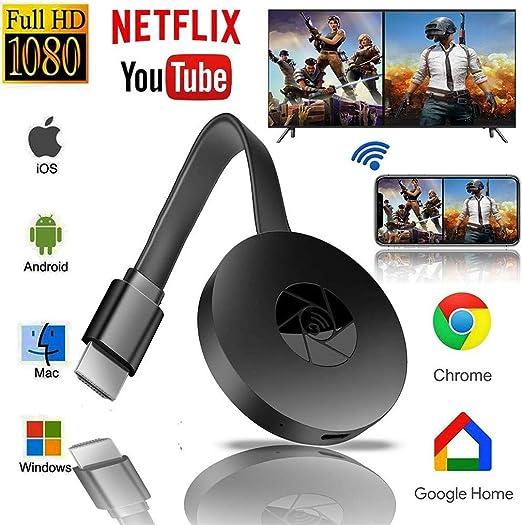 CHARGER DOCK WiFi inalámbrico Dongle/HDMI Adaptador de Receptor de TV Digital portátil Mini Compartir 1080P HD Soporte de Video del teléfono a la Pantalla Grande Espejo TV/Proyectores/PC: Amazon.es: Hogar