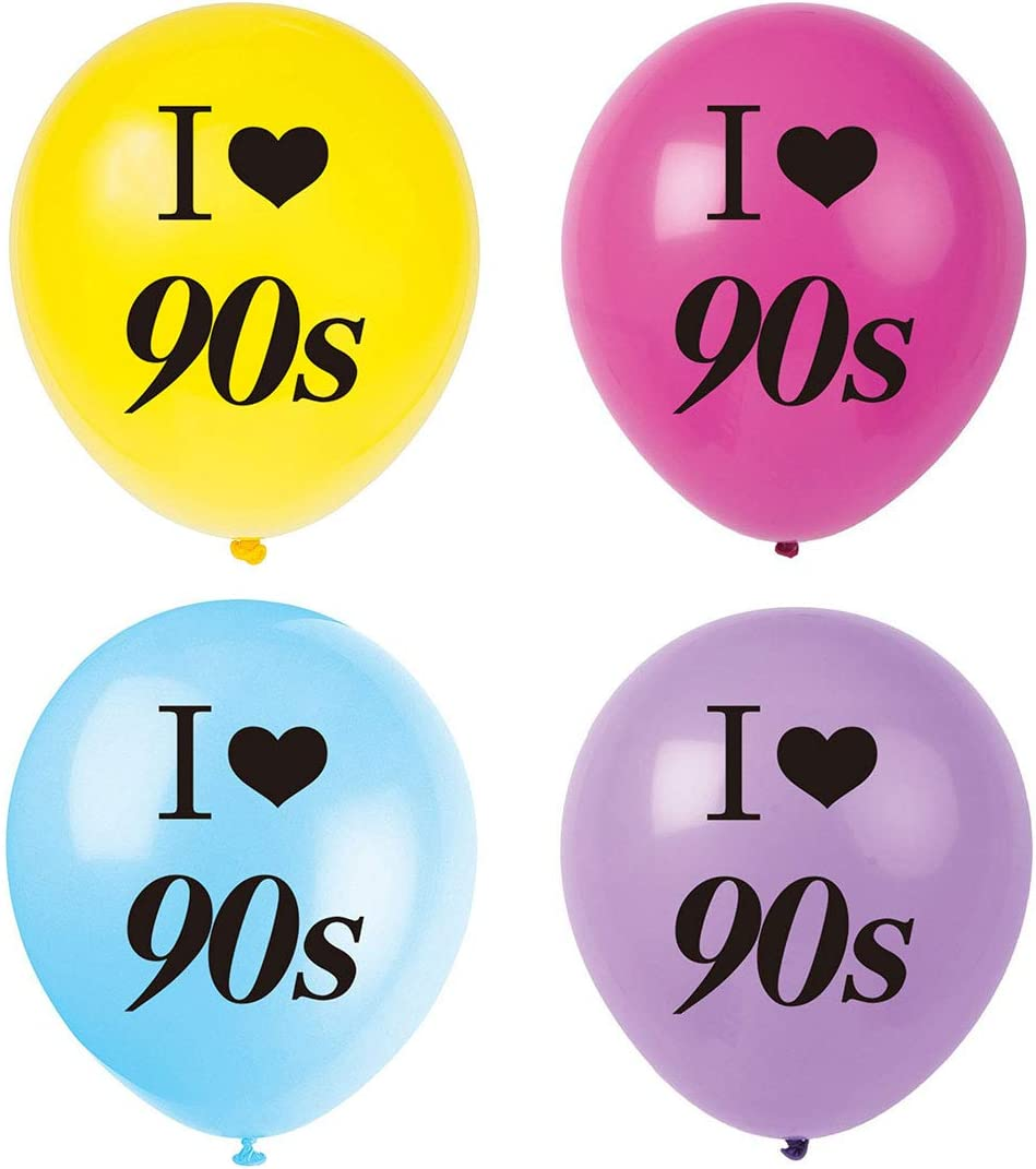 MAGJUCHE I Love 90s Balloons, 16pcs 1990s Throwback Themed Party Decorations, Supplies