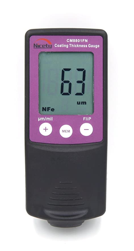 CM8801F Digital Coating Thickness Gauge Paint Meter Tester 0-1250um/0-50mil  for Laboratory, Powder Coating Companies, Manufacturing Companies,Paint