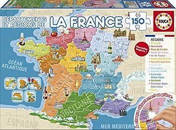 Dipartimenti Francia Cartina.Educa Borras 17238 150 Dipartimenti E Regioni Della