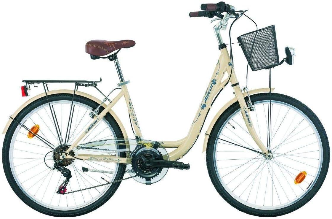Bicicleta clásica holandesa ASCOT 26mujer 18 Velocidades.: Amazon ...