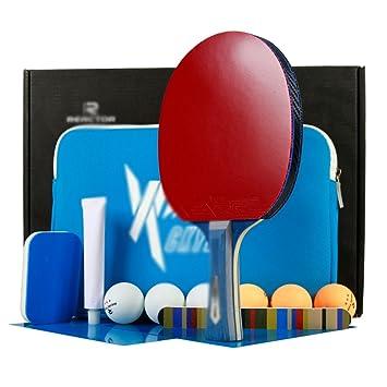 X&M Ping Pong Padel - Raqueta de Tenis de Mesa 1 Premium Pro,6 Bolas