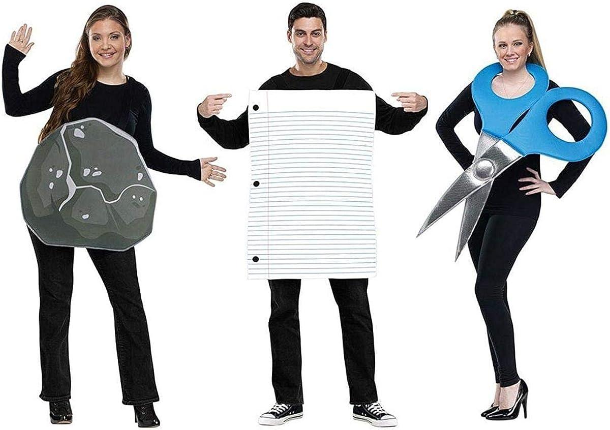 Disfraz grupal de piedra, papel y tijera para adultos - Estándar ...