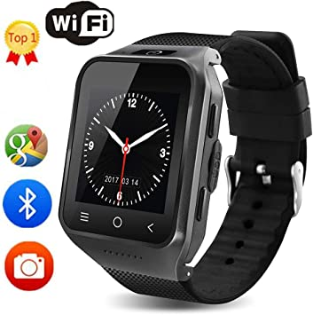 TLgf Bluetooth Smart Watch Dual Core Smartphone GPS Cámara de 2.0MP WCDMA WiFi MP3 MP4 Monitor de Fitness, 1.54 Pulgadas Reloj de Pulsera Registro de teléfono Smartwatch,Black: Amazon.es: Deportes y aire libre