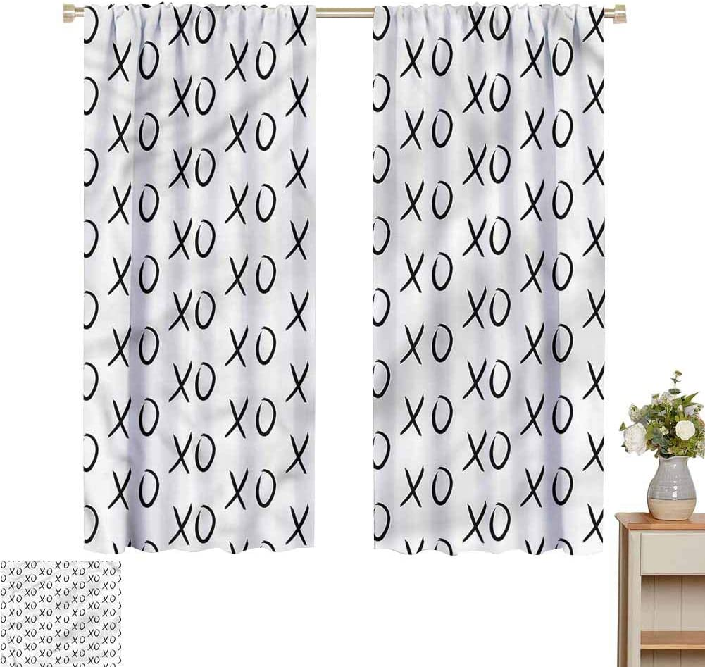Blackout Curtains for Living Room- Blackout Curtains for Bedroom Affection Expression Kisses for Home Decoration Set of 2 Panels W72 x L84