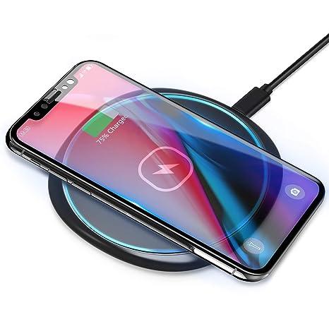 ELEGIANT Cargador Inalámbrico Rápido Qi 10W Cargador Base de Carga de Estación de Carga Rápida Inductiva Inalámbrica para Samsung Galaxy S10 S9 Note9 ...