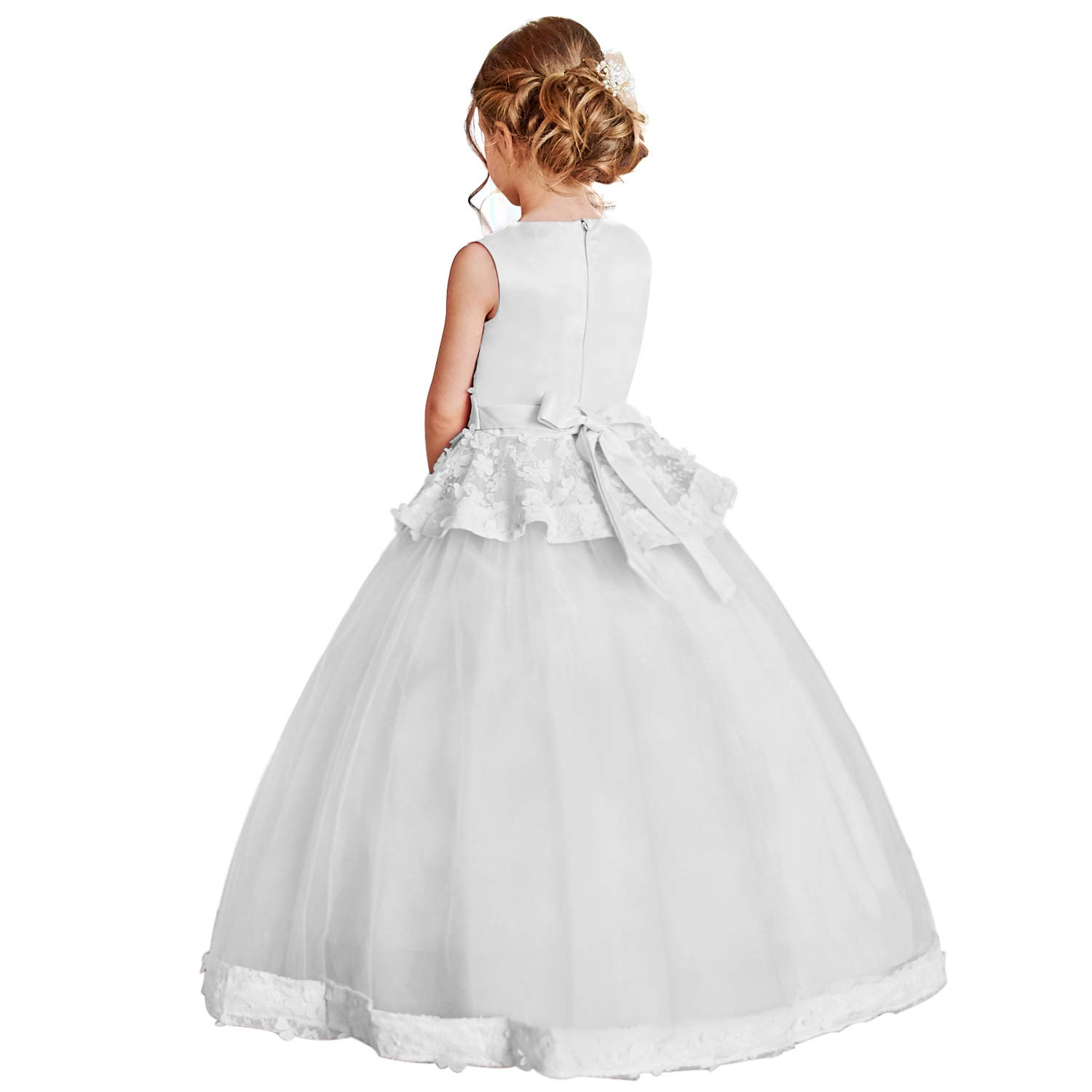 TTYAOVO Girls Embroidered Prom Gowns Classic Birthday Wedding Party Long Dresses