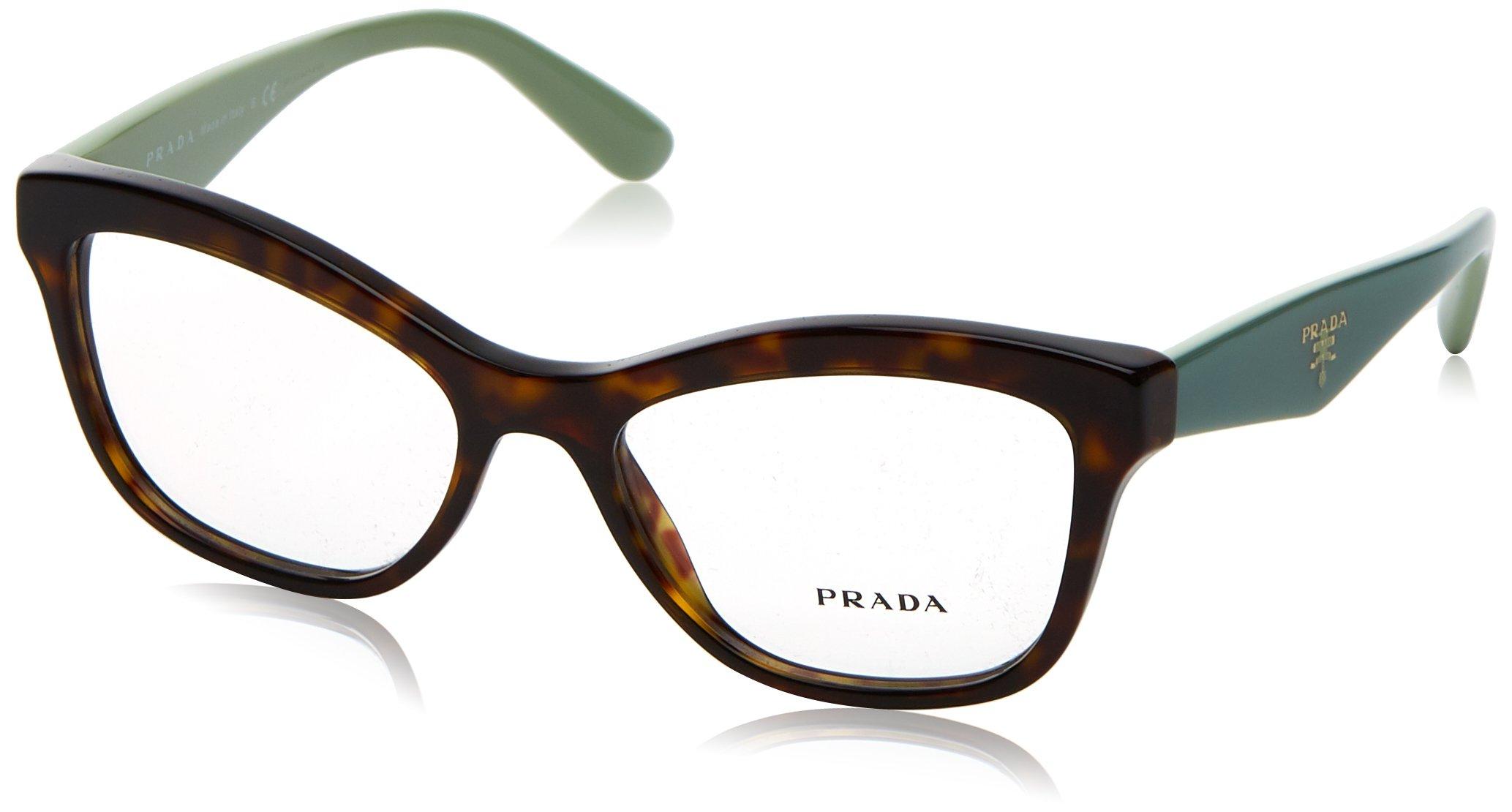 Prada PR29RV Eyeglass Frames 2AU1O1-52 - Havana