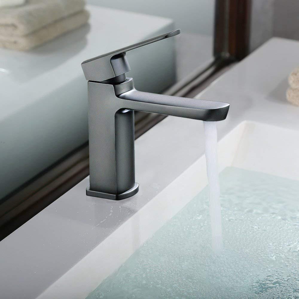 Olio di geriebene Bronze Rubinetto per Bagno Lavandino rubinetto in ottone con cartuccia in ceramica; Miscelatore monocomando per lavabo