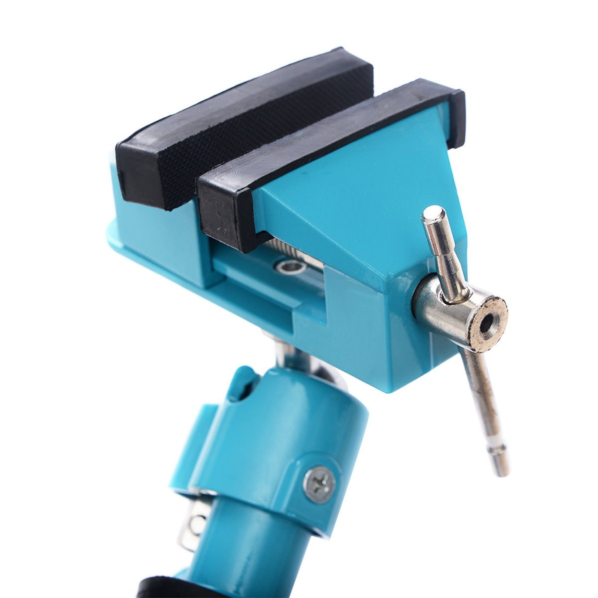 Goplus Bench Vise Swivel 3'' Tabletop Clamp Vice Tilts Rotate 360° Universal Work by Goplus (Image #5)