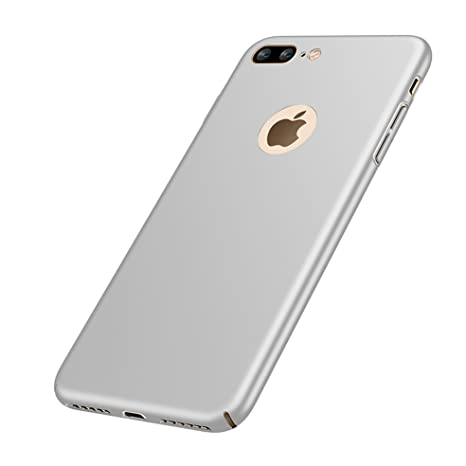 [2-en-1] iPhone 8 Matte Funda Ultra-Delgado 0.7mm + Regalo [9H Transparent Vidrio Templado],VELLYOU Carcasa 360°Anti-Deslizante Anti-Rasguño ...