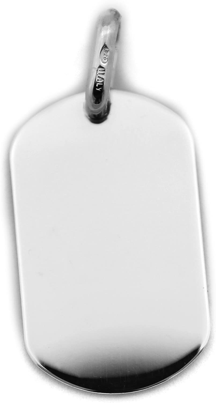 Beauniq Men/'s Solid Sterling Silver Heavy Dog Tag Pendant