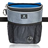 G&G Pets - Large Dog Treat Pouch for Dog Training and Agility - with Adjustable Waist Belt and Waste Bags Dispenser - Hands-Free for Easy Access to Treats and Rewards