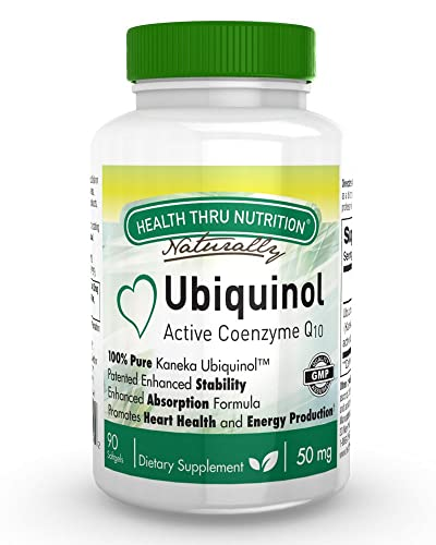 Ubiquinol 50mg 90 Softgels EAF CoQ10 (Enhanced Absorption Formula Coenzyme Q10 as Kaneka Ubiquinol)