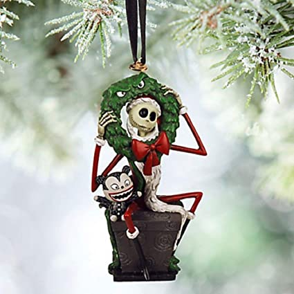 disney 2015 sketchbook jack skellington and vampire teddy sketchbook ornament holiday tree nightmare before christmas - Jack Skeleton Christmas Decorations