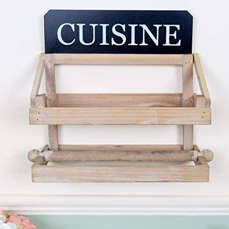 Rustic Style Wall Mounted Kitchen Shelving Unit Shabby Chic