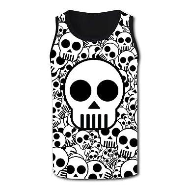 40cdeb1b0501ec Mens 3D Printed Tank Tops Creative Skeleton Pattern Vest Sleeveless Casual  Shirt at Amazon Men s Clothing store