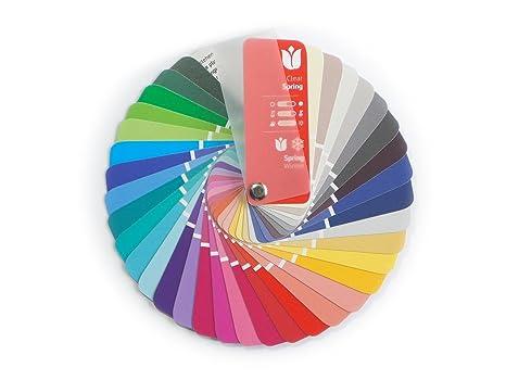 Campionario colori a ventaglio per collezione primavera inverno