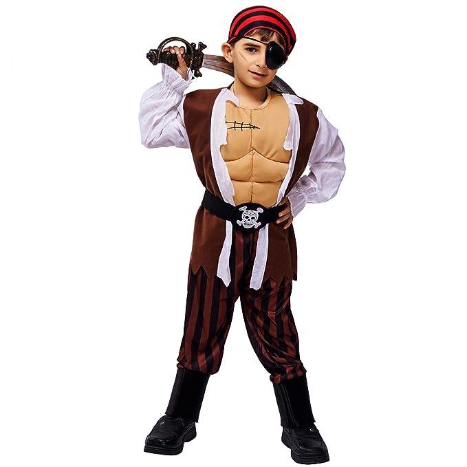 Amazon.com: DSplay - Disfraz de pirata para niño: Clothing