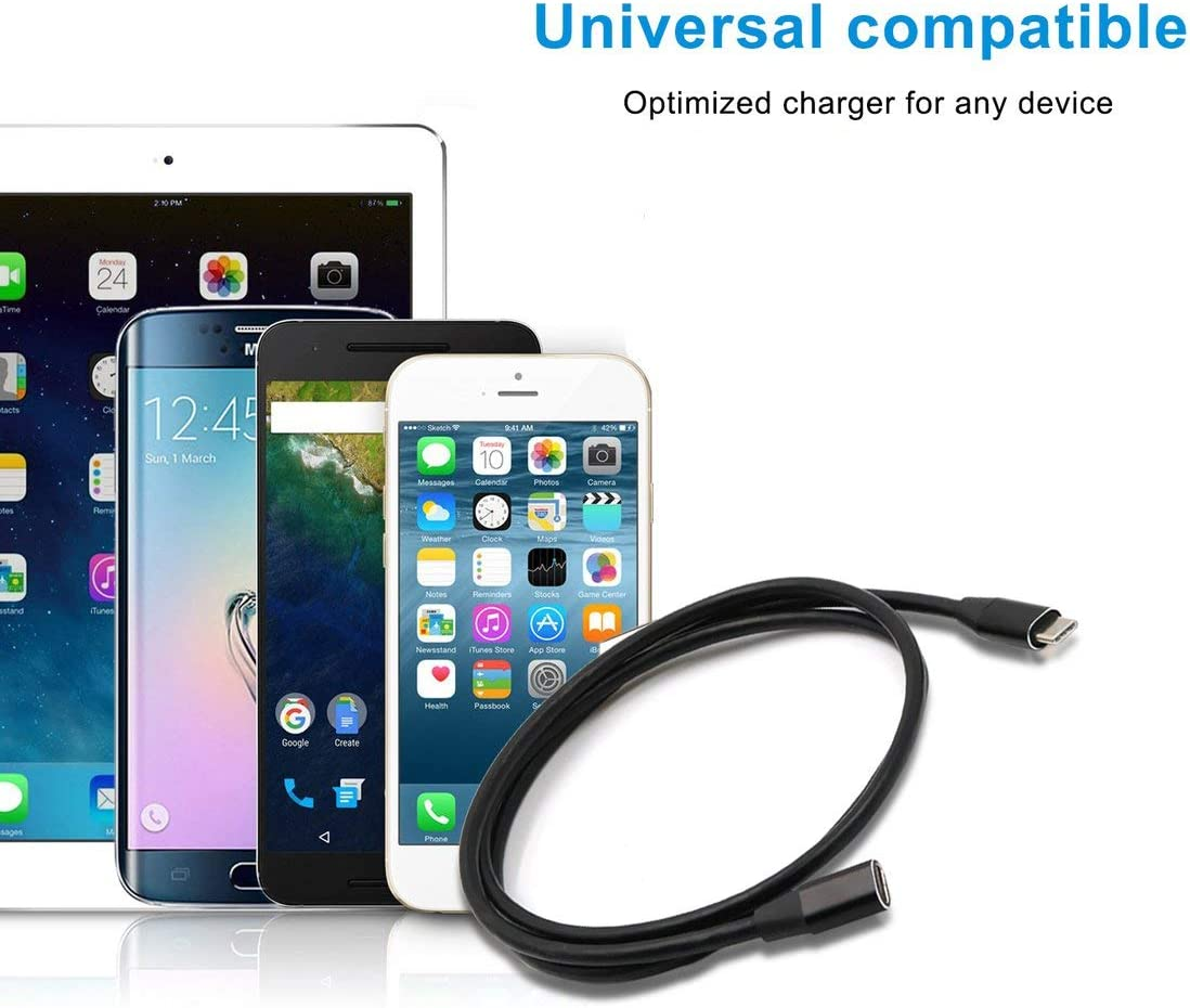 1 Meter USB Type C Extension Cable USB 3.1 USB-C Male to Female Extending Wire Extender Cord Connector Dock