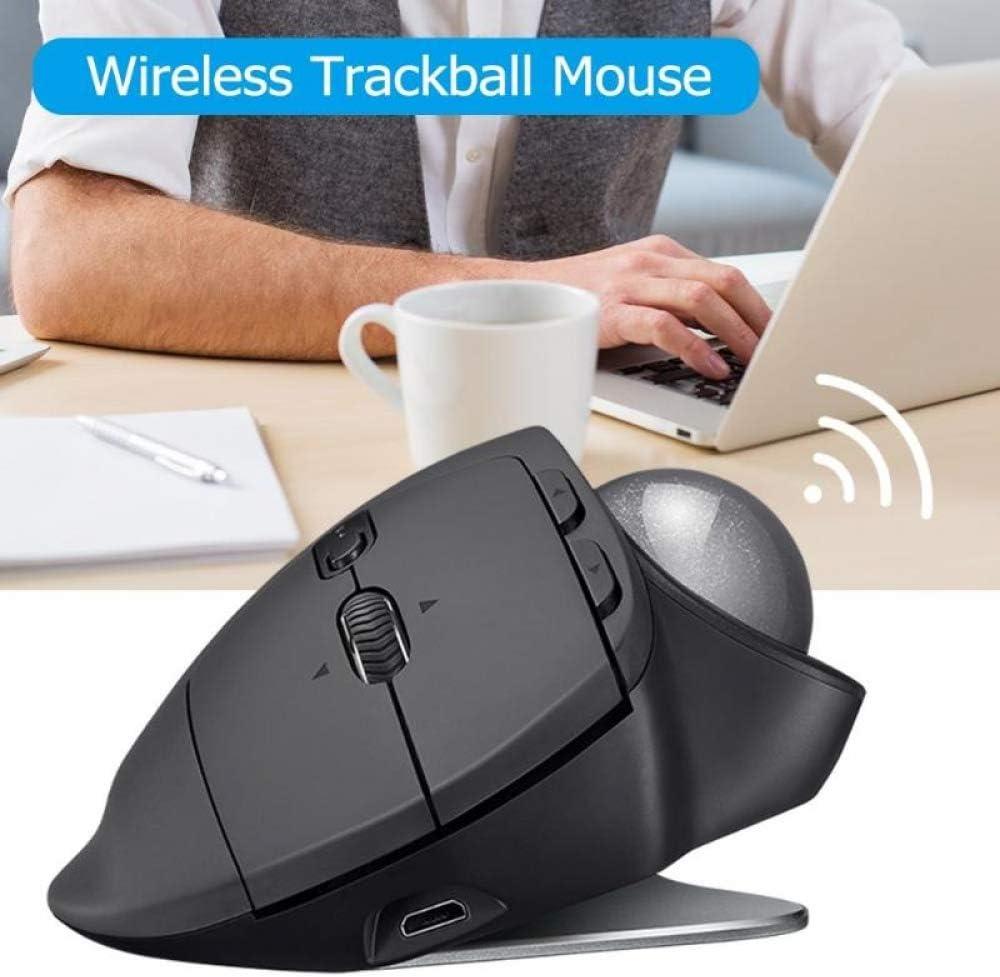 BINGFEI LErgonomic Trackball Gaming Mouse Multi-Device Wireless Bluetooth 512-2048DPI Mouse 2.4GHz Mice