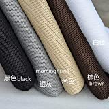 MorningRising Speaker Cloth Stereo Gille Fabric Speaker Mesh Cloth for Audio Beige