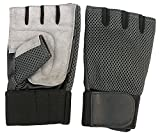 CLAXON Vision Gym Gloves with 2'' Wide Wrist Supports & Palm Padded, Large