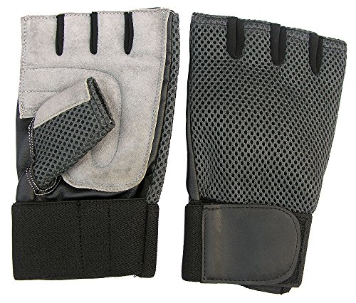 CLAXON Vision Gym Gloves with 2'' Wide Wrist Supports & Palm Padded, Large by CLAXON