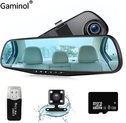 Specchietto retrovisore con telecamera Registrazione... Dash Cam DVR Full HD