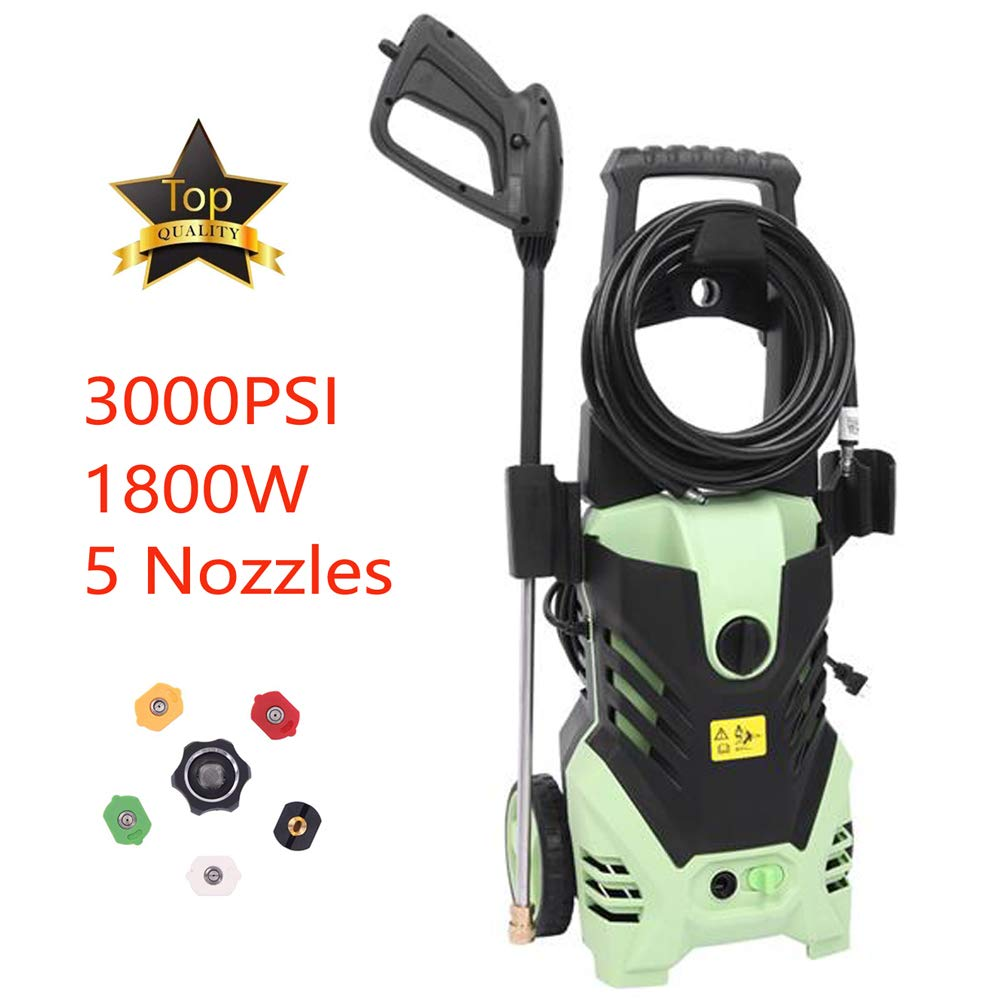 Berill 3000 PSI 1.7 GPM Electric High Pressure Washer, 1800W Professional Power Washer,Portable Cleaner Machine with 5 Interchangeable Nozzles