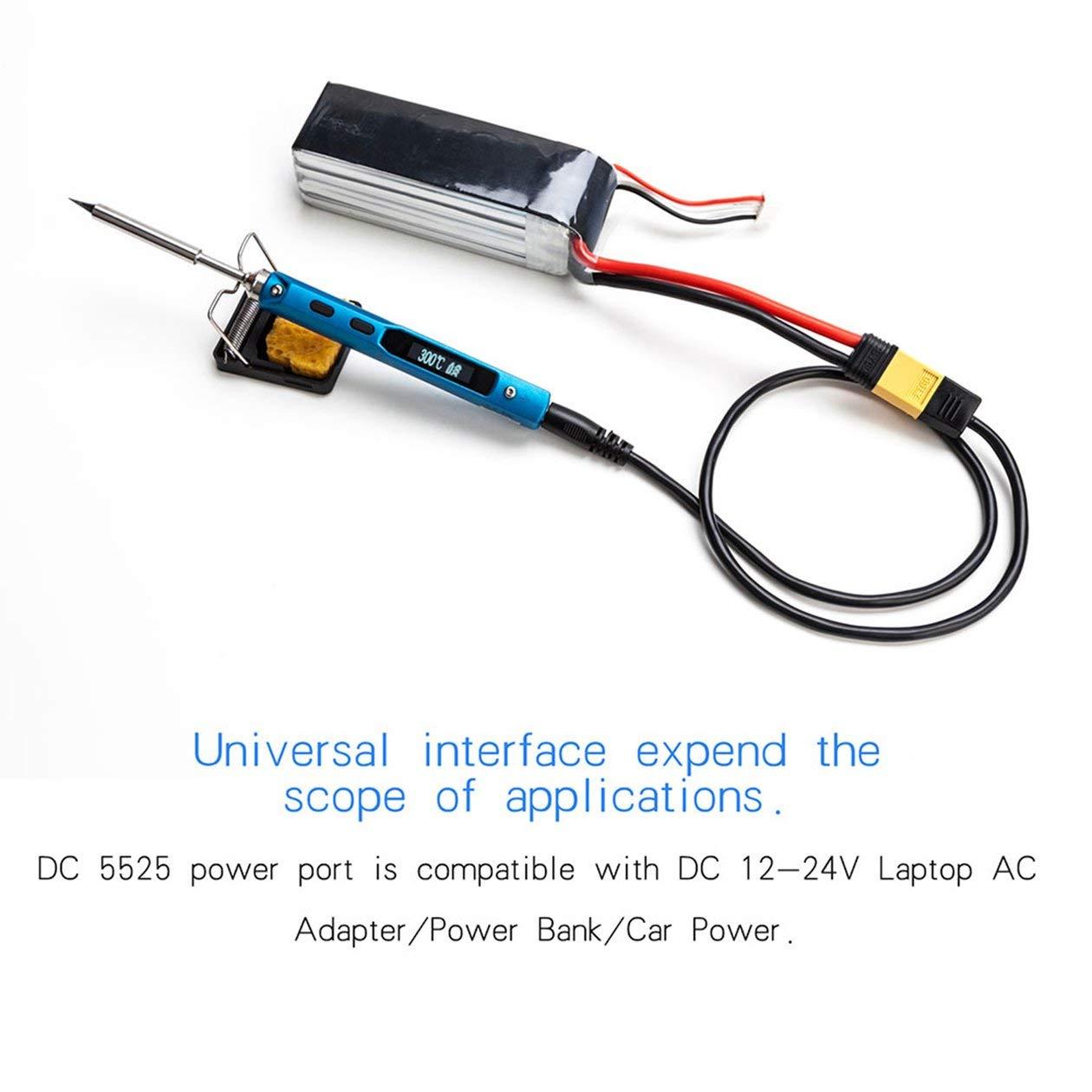 Kit del soldador, 65W 12V-24V programable eléctrica del kit del soldador Punta de repuesto de alta frecuencia pantalla LCD digital, por Diversamente ...