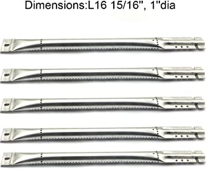 """Grill Valueparts RE5641GB (5-Pack) Stainless Steel Pipe Burner Replacement for Brinkmann, Charmglow, Jenn Air, Kirkland, Kitchen Aid, Nexgrill and Other Grill Models (Dims: 16 15/16"""" X Dia. 1"""")"""