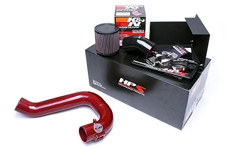 HPS Red Cool Ram Air Intake Kit Heat Shield Air Box Cool Ram SRI 27-545R