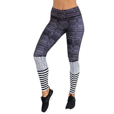 Leggings Deporte Mujer Cintura Alta Chandal Yoga Running Hip ...