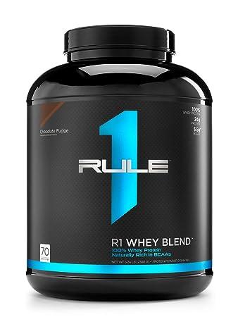 R1 Whey Blend, Rule 1 Proteins Chocolate Fudge, 70 Servings