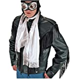 Aviator Scarf White For Kids Or Adult - One Size