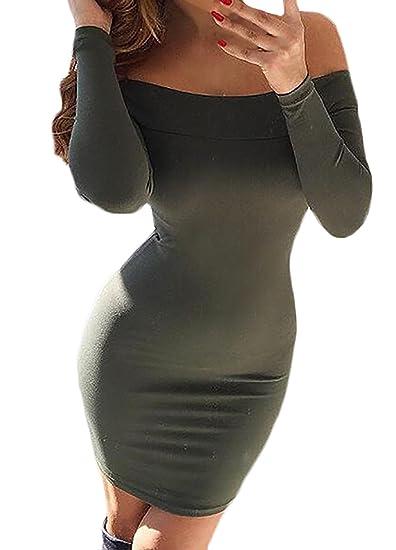 Vestidos De Fiesta Cortos Elegante Moda Slim Fit Vestido Coctel Color Sencillos Especial Sólido Cuello Barco Manga Larga Paquete De Cadera Vestir Niñas ...