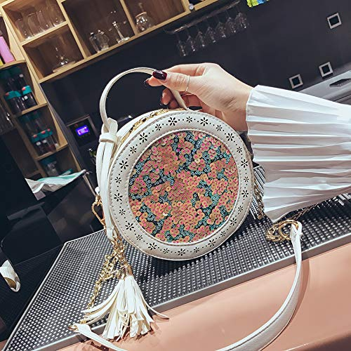 de du Sac Sac Sauvage à Petit bandoulière Beige Mode Filles à Petit WSLMHH Version Rond Messenger Sac bandoulière Bag chaîne la de coréenne Sac pFTWqX4